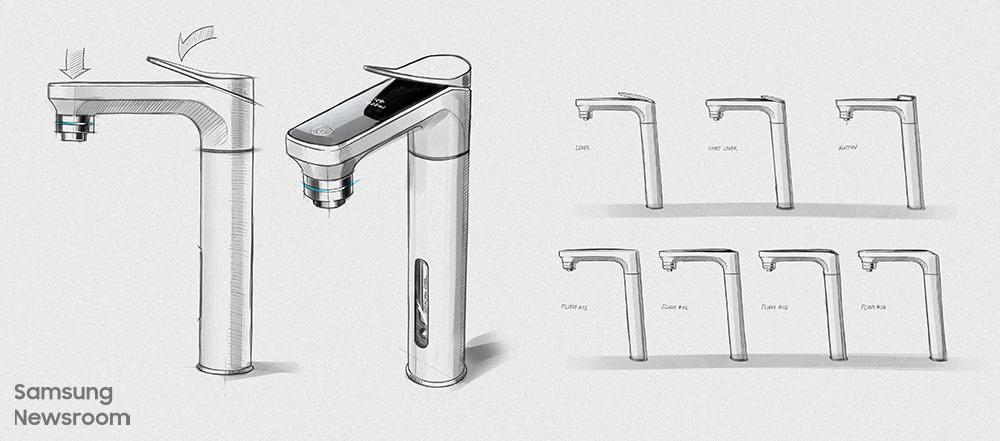 아름답고 편리한 비스포크 정수기를 만들기 위해 고민한 윤덕상 디자이너의 스케치