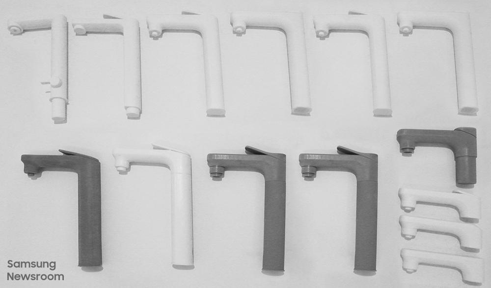 새로운 형태의 정수기 디자인을 위하여 제작한 RP(Rapid Prototyping)들