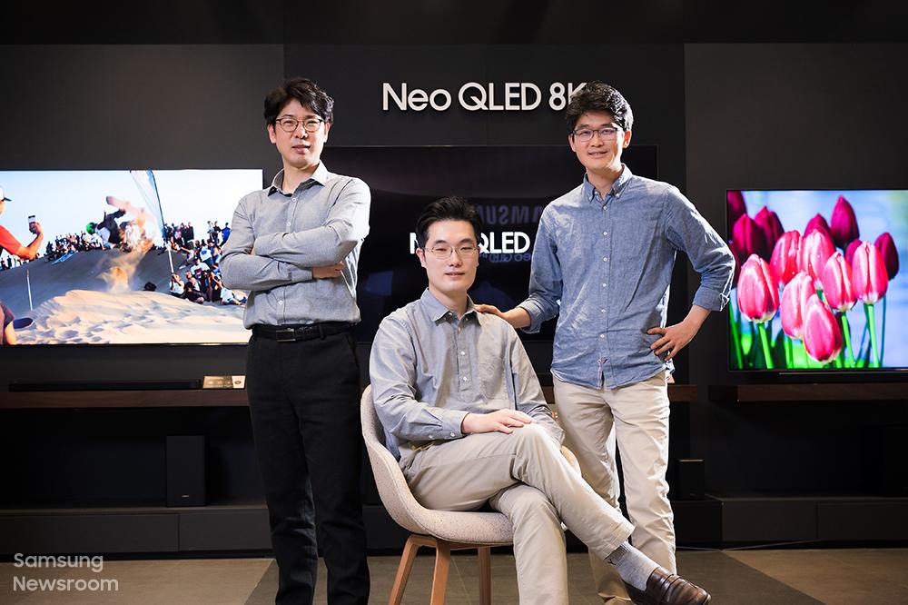 ▲삼성전자 영상디스플레이사업부 이봉근, 이계훈, 이민훈 엔지니어(왼쪽부터)