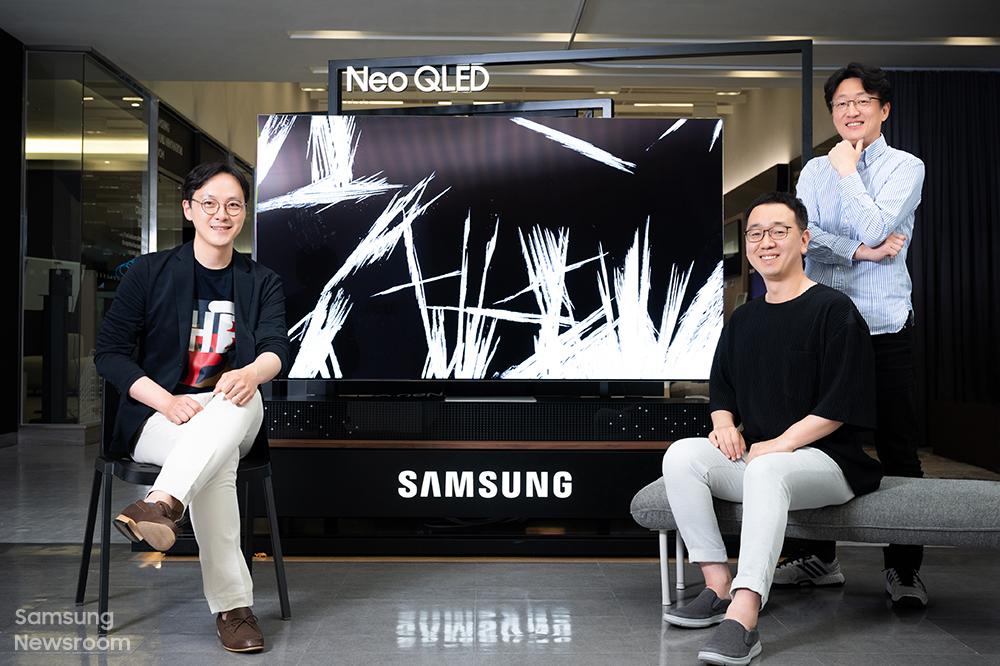 ▲ 삼성전자 영상디스플레이사업부 김종배, 김성주, 김선민 엔지니어(왼쪽부터)