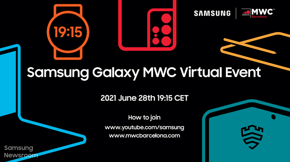 Samsung Galaxy MWC Virtual Event 2021 June 28th 19:15 CET How to join www.youtube.com/samsung www.mwcbarcelona.com