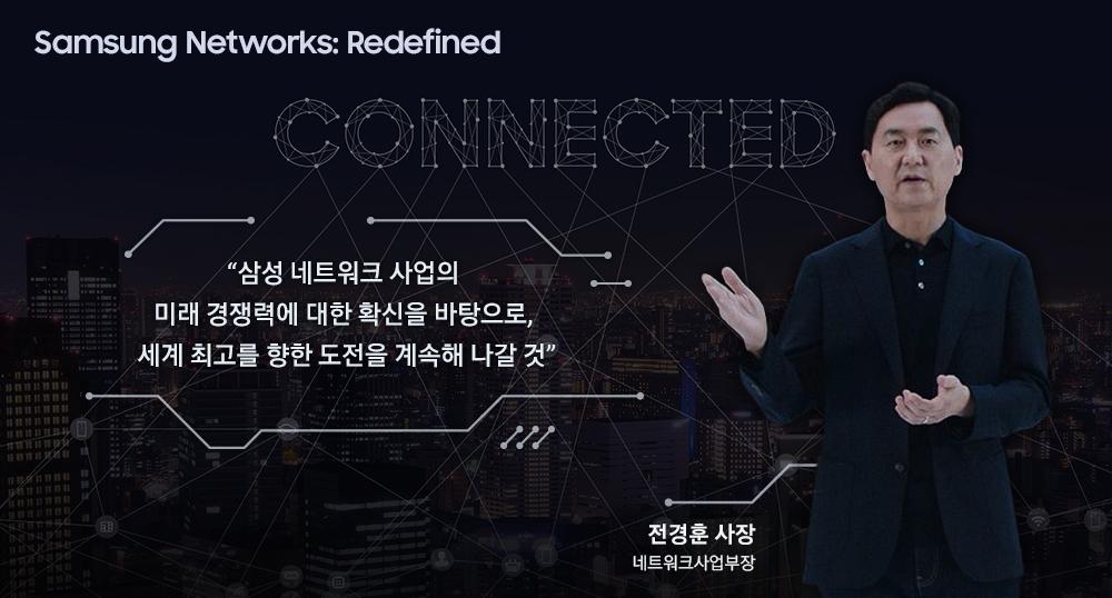 Samsung Networks: Redefined Connected 전경훈 사장 (삼성전자) 네트워크사업부장 삼성 네트워크 사업의 미래 경쟁력에 대한 확신을 바탕으로, 세계 최고를 향한 도전을 계속해 나갈 것