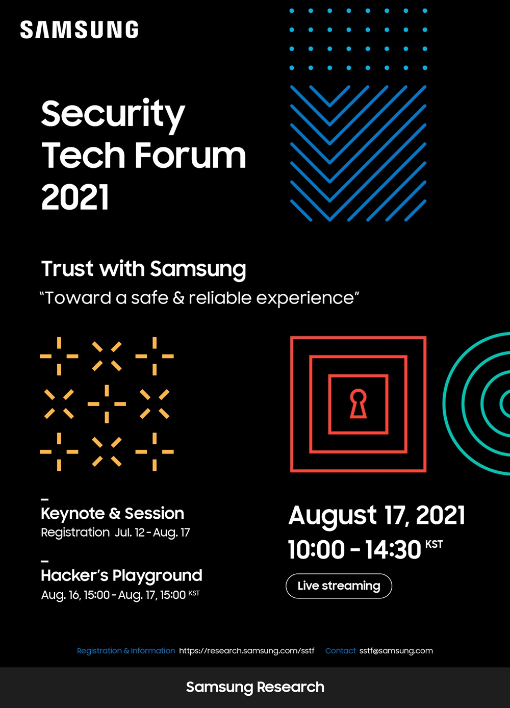 2. 삼성보안기술포럼 2021 포스터(블랙)