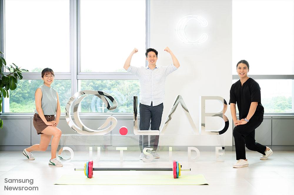 C랩 아웃사이드 입주 기업 '꾸내컴퍼니'의 김소망 씨, 김상현 대표, 주요한 씨(왼쪽부터)