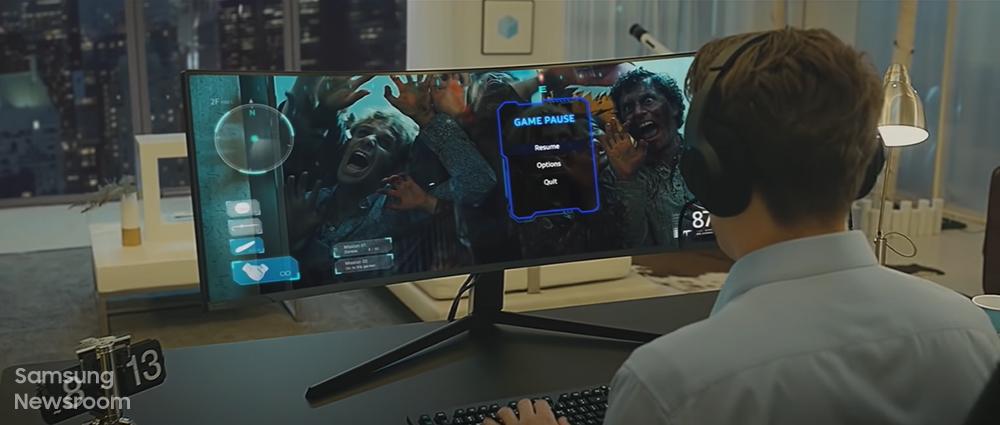 오디세이 G9 브랜드 필름 장면
