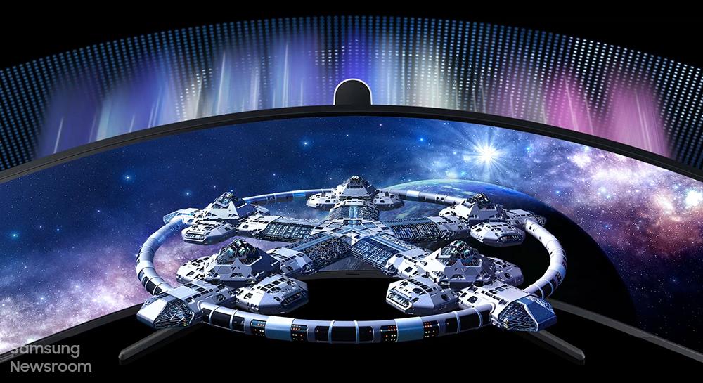 우주정거장 모습과 비교한 모습