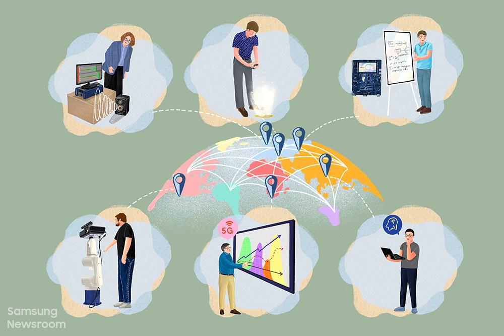 삼성 리서치 거점 연구소와 그곳에서 일하는 연구원들