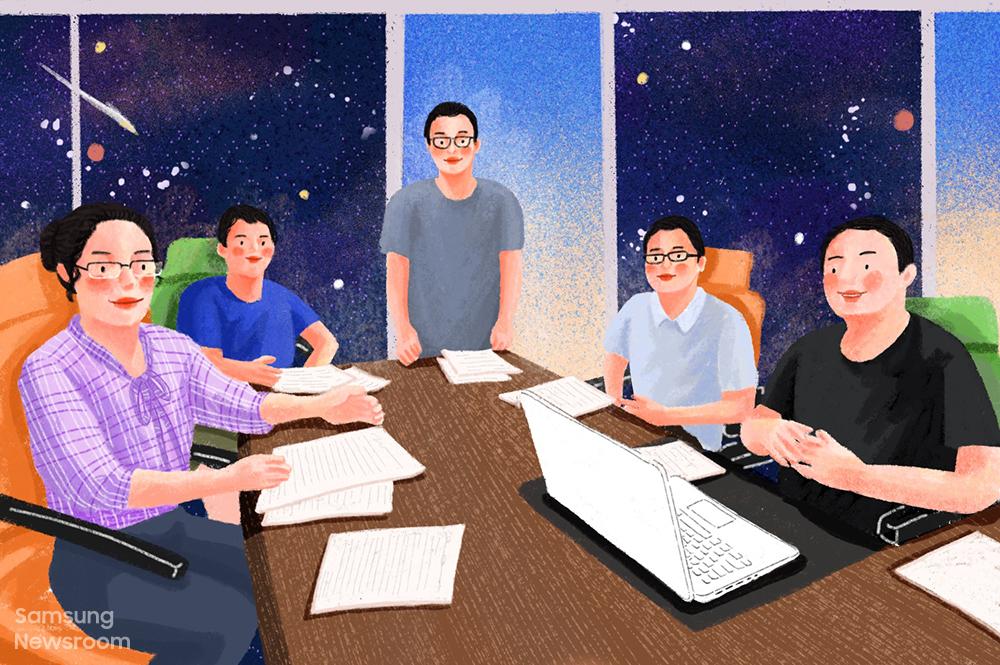 삼성전자 중국 베이징 연구소(Samsung R&D Institute China–Beijing, SRC-B)의 인공지능(AI) 랩 엔지니어 빈 다이(Bin Dai)와 그의 동료들